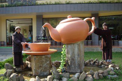 2007 03 05 sư ông và sư thúc rót trà