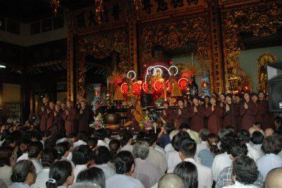 2007 03 16 18 Trai Đàn chẩn tế chùa Vĩnh Nghiêm ts nhất hạnh cho pháp thoại