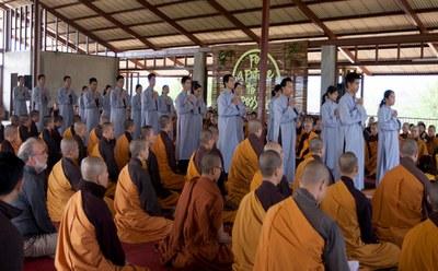 Lễ xuất gia Cây Đoàn, Thái Lan