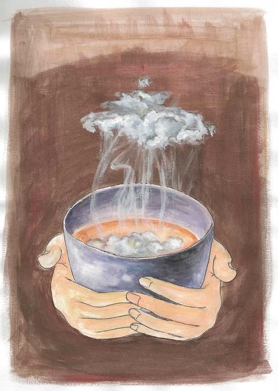 Uống trà là uống mây