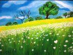 lấm tấm trên bãi cỏ xanh vạn bông hoa đã nở tự bao giờ