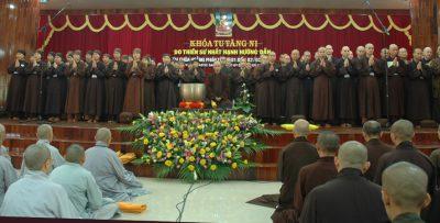 Khóa tu Tăng Ni tại chùa Hoằng Pháp 2005 - ts Nhất Hạnh và Làng Mai